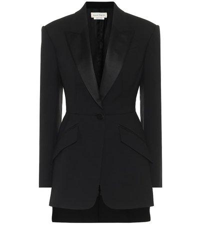 Alexander McQueen - Wool and silk-blend blazer | Mytheresa