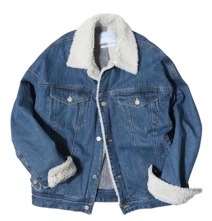 jean jacket with fur