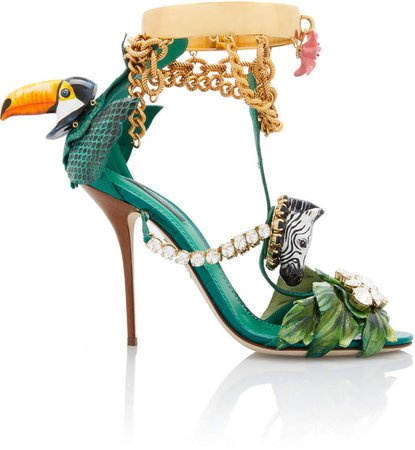 Dolce & Gabbana Tropical Embellished Sandals Size: 35