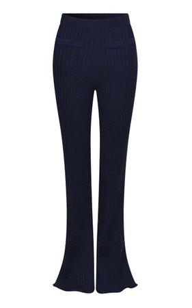 Ribbed-Knit Flared-Leg Pants By Paco Rabanne | Moda Operandi