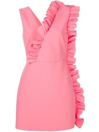 MSGM fitted ruffle dress