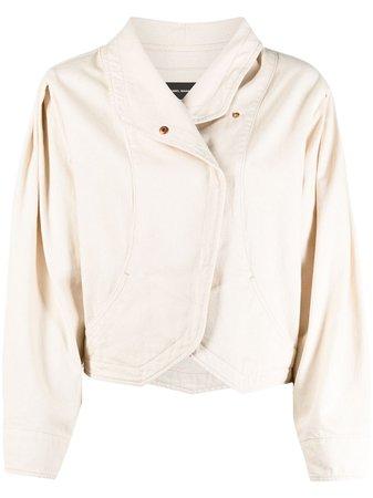 Isabel Marant Pauline puff-sleeve denim jacket