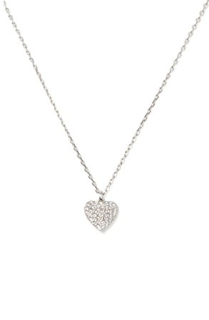 kate spade new york heart to heart pavé mini pendant necklace | Nordstrom