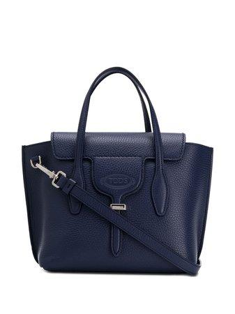 Blue Tod's Pebbled Tote Bag | Farfetch.com