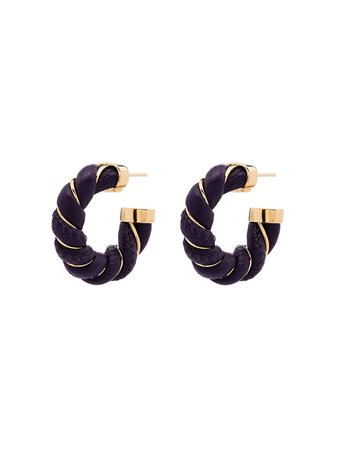Bottega Veneta gold-plated Hoop Earrings - Farfetch