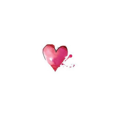 Pink Ink & Watercolor Heart