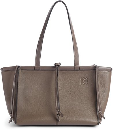 Cushion Leather Convertible Gusset Tote
