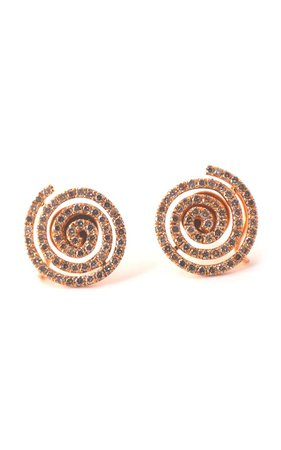One of a Kind Brown Diamond Swirl Earrings by Sharon Khazzam | Moda Operandi
