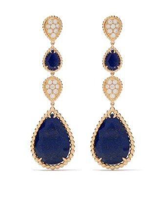 Boucheron Boucles d'oreilles Pendantes Serpent Bohème S En Or 18ct Ornées De Diamants Et De lapis-lazuli - Farfetch