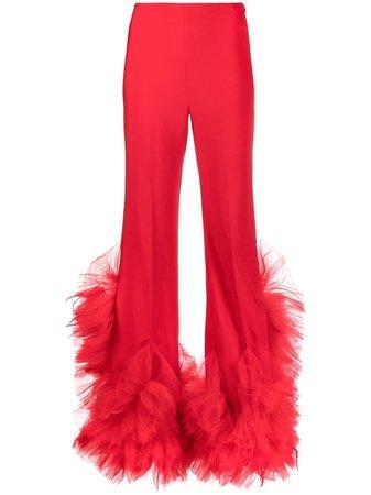 Loulou high-waist Ruffle Detail Trousers - Farfetch