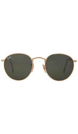Ray-Ban Round Metal in Green Classic | REVOLVE