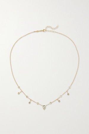 Gold 14-karat gold diamond necklace | Jacquie Aiche | NET-A-PORTER