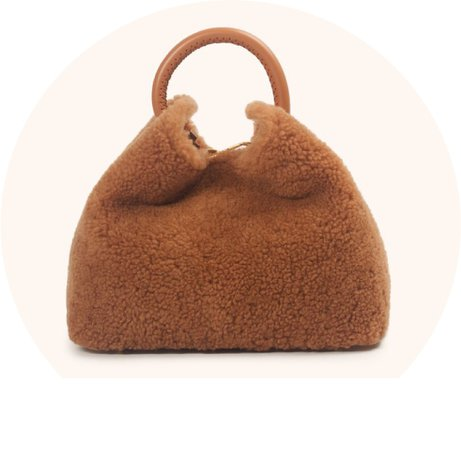 brown teddy bag
