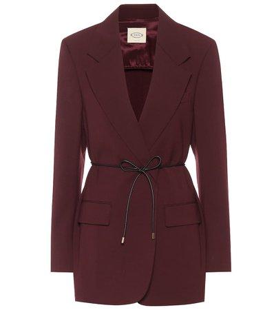 Tod's - Wool-blend blazer   Mytheresa