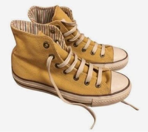 yellow vintage converse