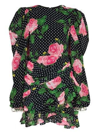 Richard Quinn Floral polka-dot Print Mini Dress - Farfetch
