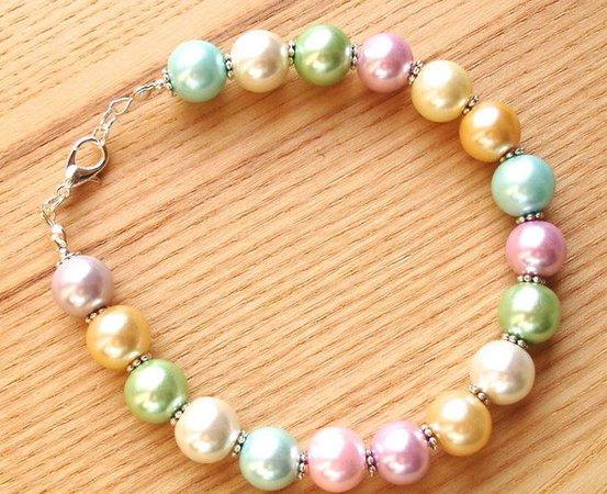 Pastel Candy Pearl Bracelet