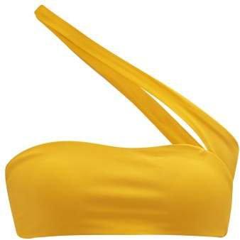 Halo One Shoulder Bikini Top - Womens - Yellow