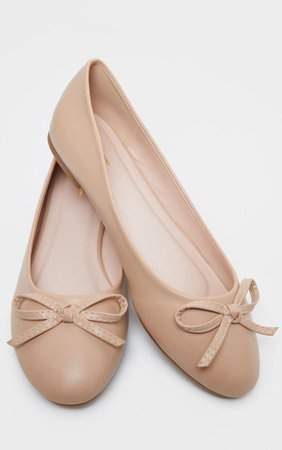 Black Round Toe Ballet   Shoes   PrettyLittleThing