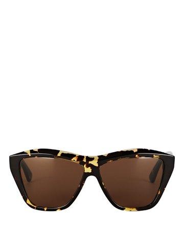 Bottega Veneta Rectangular Cat Eye Sunglasses | INTERMIX®
