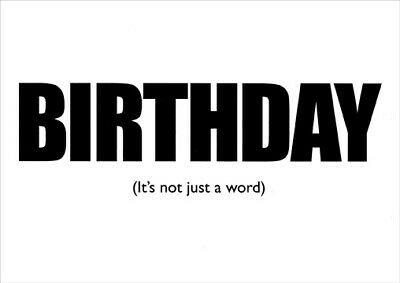 Birthday Not Just a Word - Marian Heath Funny Birthday Card by Marian Heath 92752144736   eBay