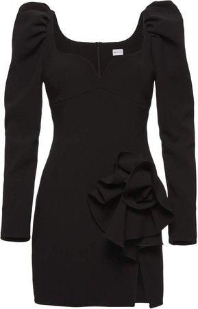 Magda Butrym Wool-Blend Floral Detail Mini Dress