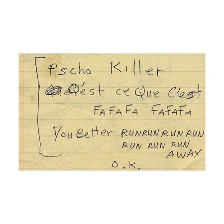 talking heads psycho killer lyrics