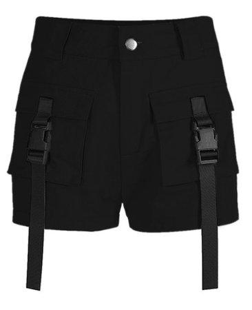 black shorts