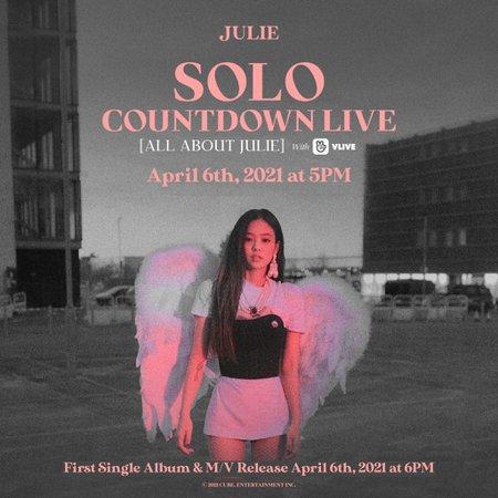 HEARTBEAT | JULIE 1ST SINGLE ALBUM 'SOLO' | COUNTDOWN VLIVE