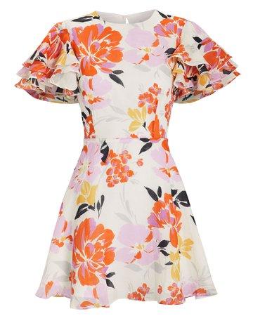 Effervescent Floral Mini Dress 280$