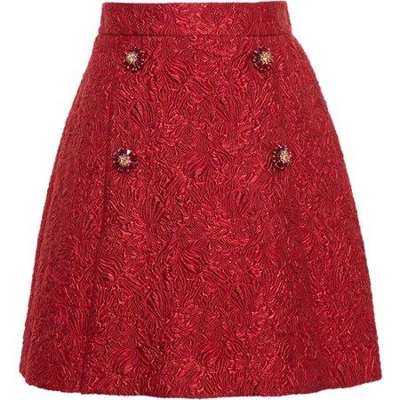 Dolce & Gabbana Velvet Jacquard Skirt