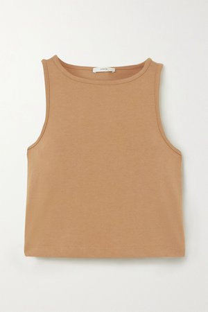 Sand Cropped cotton-jersey tank | Vince | NET-A-PORTER