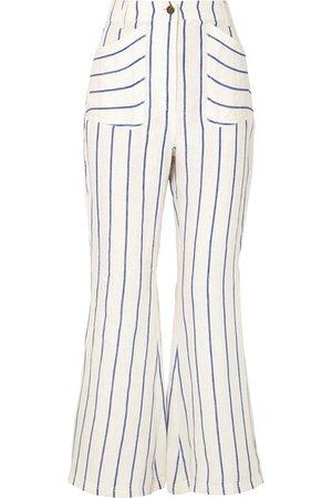 Rosie Assoulin | Striped linen flared pants | NET-A-PORTER.COM
