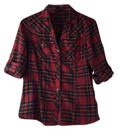 Forever 21 Plaid Fitted Flannel Button-down Top Size 6 (S) - Tradesy