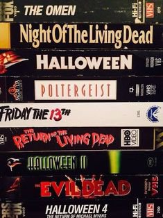 horror vhs video tapes