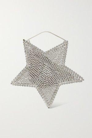 Rosantica | Cielo crystal-embellished silver-tone tote | NET-A-PORTER.COM