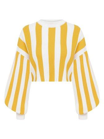 Raisa Vanessa The Lake House Striped Knit Cropped Sweater | SaksFifthAvenue