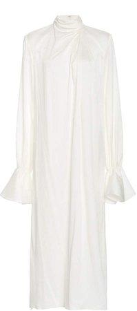 Emilia Wickstead Lora Wrap-Effect Silk-Blend Dress