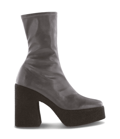 Jude Grey Muji Ankle Boots by Tony Bianco