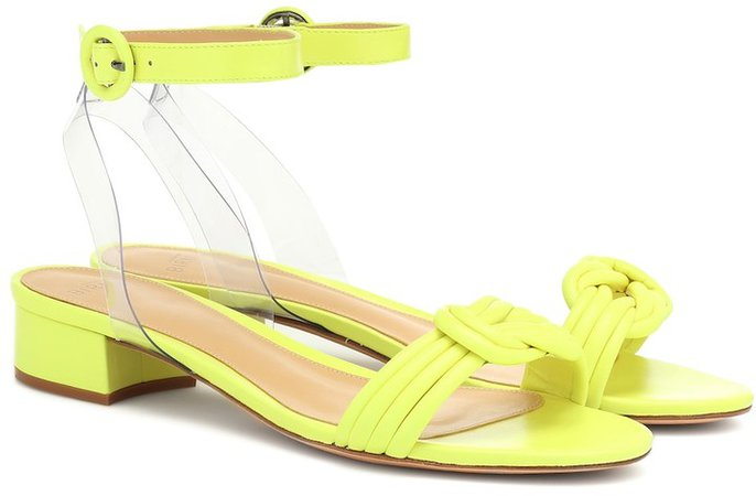 Vicky PVC and leather sandals