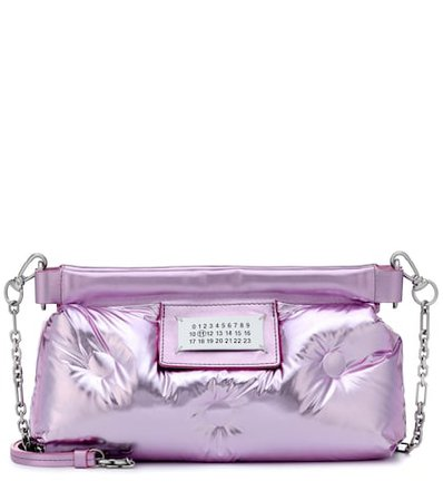Glam Slam quilted leather clutch