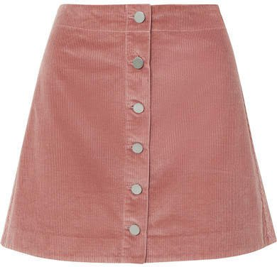 Prewitt Cotton-corduroy Mini Skirt - Pink