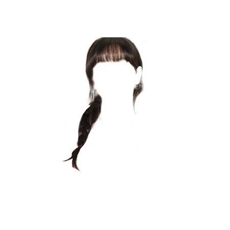 black side braid with bangs - @cloud9_offic