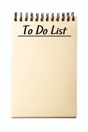 Blank To Do List Notebook Isolated On White Background. Stock Photo, Picture And Royalty Free Image. Image 54717251.
