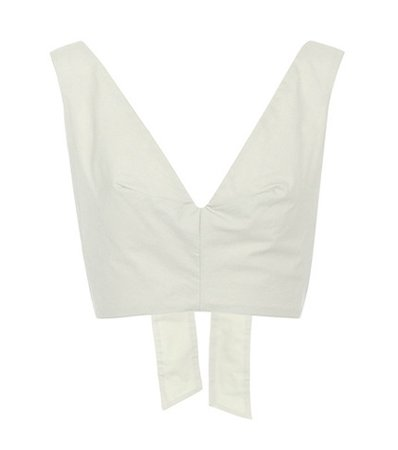 Bow Tie cotton cropped top