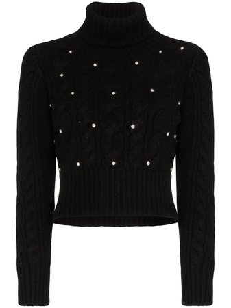 Black Rosie Assoulin Cable-Knit Turtleneck Jumper | Farfetch.com