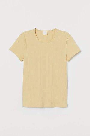 Ribbed T-shirt - Yellow