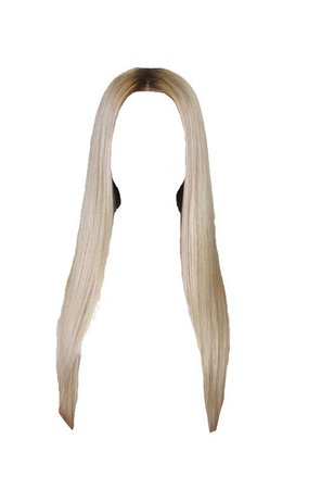 straight blonde hair edit png