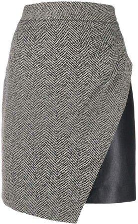 jacquard-print mini skirt