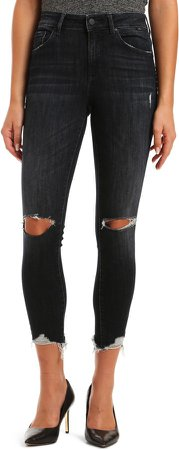 Tess High Waist Ripped Ankle Skinny Jeans